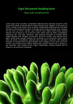 Virus Green Word Template, Cover Page, 07353, Technology, Science & Computers — PoweredTemplate.com