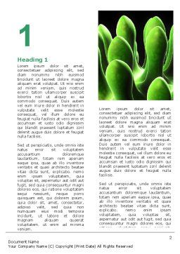 Virus Green Word Template, First Inner Page, 07353, Technology, Science & Computers — PoweredTemplate.com
