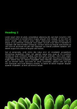Virus Green Word Template, Second Inner Page, 07353, Technology, Science & Computers — PoweredTemplate.com