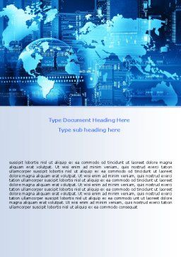 World Business Building Word Template, Cover Page, 07357, Technology, Science & Computers — PoweredTemplate.com