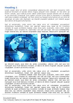 World Business Building Word Template, First Inner Page, 07357, Technology, Science & Computers — PoweredTemplate.com