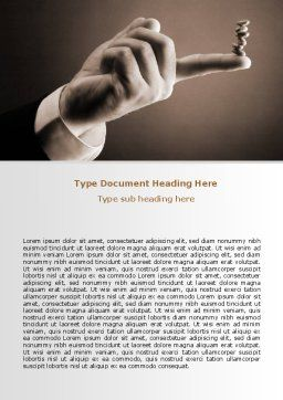 Holding Balance Word Template, Cover Page, 07359, Business — PoweredTemplate.com