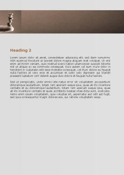 Holding Balance Word Template, Second Inner Page, 07359, Business — PoweredTemplate.com