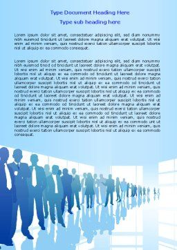 Business Recruitment Word Template, Cover Page, 07361, Business — PoweredTemplate.com