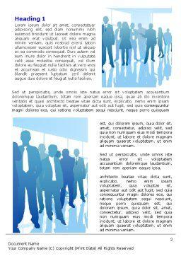 Business Recruitment Word Template, First Inner Page, 07361, Business — PoweredTemplate.com
