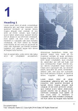 World Communication Routes Word Template First Inner Page