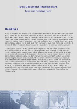 World Communication Routes Word Template Second Inner Page