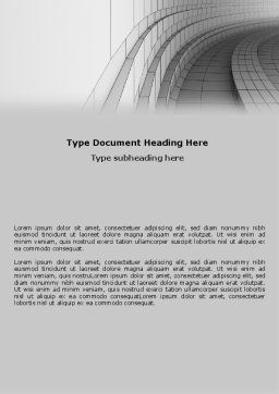 Gray Turn Word Template, Cover Page, 07366, 3D — PoweredTemplate.com