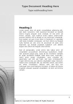 Gray Turn Word Template, Second Inner Page, 07366, 3D — PoweredTemplate.com