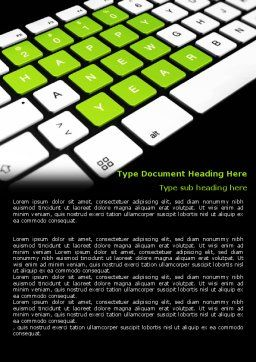 New Year Keyboard Word Template, Cover Page, 07367, Holiday/Special Occasion — PoweredTemplate.com