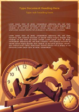 Business Rush Hour Word Template, Cover Page, 07370, Consulting — PoweredTemplate.com