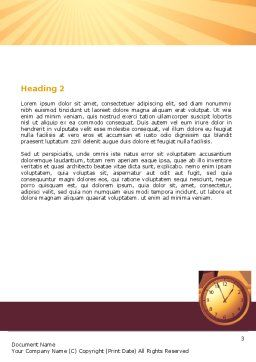 Business Rush Hour Word Template, Second Inner Page, 07370, Consulting — PoweredTemplate.com