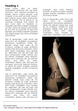 Violin In Lady's Hands Word Template First Inner Page