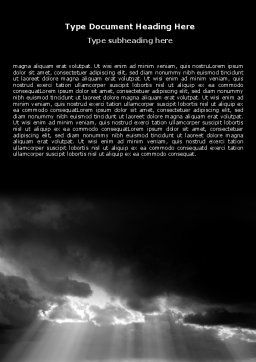 Stormy Clouds Word Template, Cover Page, 07378, Nature & Environment — PoweredTemplate.com