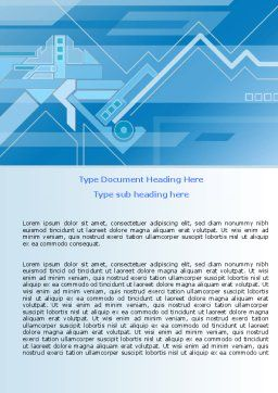 Abstract Technological Word Template, Cover Page, 07379, Business — PoweredTemplate.com