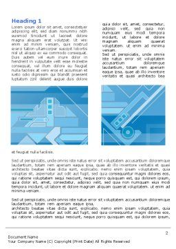 Abstract Technological Word Template, First Inner Page, 07379, Business — PoweredTemplate.com