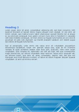 Abstract Technological Word Template, Second Inner Page, 07379, Business — PoweredTemplate.com