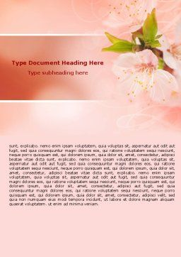 Peach Colored Word Template, Cover Page, 07380, Nature & Environment — PoweredTemplate.com