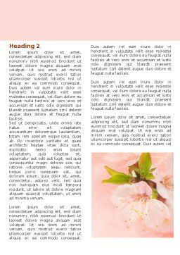 Peach Colored Word Template, First Inner Page, 07380, Nature & Environment — PoweredTemplate.com