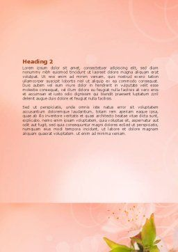 Peach Colored Word Template, Second Inner Page, 07380, Nature & Environment — PoweredTemplate.com