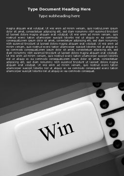 Win Domino Word Template, Cover Page, 07382, Business Concepts — PoweredTemplate.com