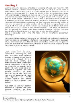 World In Glass Word Template, First Inner Page, 07383, Global — PoweredTemplate.com