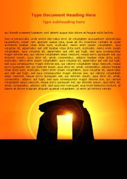 Megaliths Word Template, Cover Page, 07389, Religious/Spiritual — PoweredTemplate.com