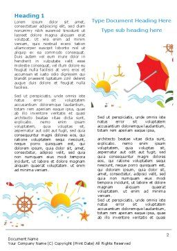 Vacation Time Word Template First Inner Page