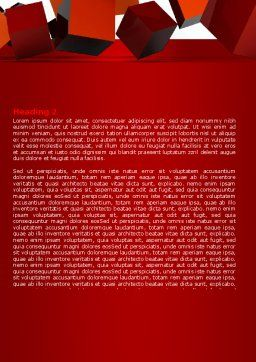 3D Red Cubes Word Template, Second Inner Page, 07394, 3D — PoweredTemplate.com