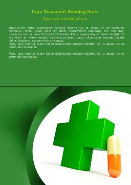 Pharmacy Word Template, Cover Page, 07396, Medical — PoweredTemplate.com