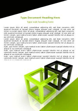 Integrated Cubes Word Template, Cover Page, 07398, Consulting — PoweredTemplate.com
