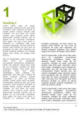 Integrated Cubes Word Template, First Inner Page, 07398, Consulting — PoweredTemplate.com