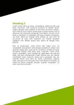 Integrated Cubes Word Template, Second Inner Page, 07398, Consulting — PoweredTemplate.com