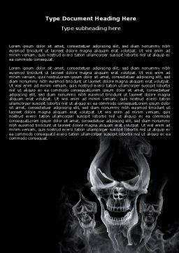 Smoke Skulls Word Template, Cover Page, 07402, General — PoweredTemplate.com