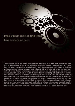 Dark Mechanism Word Template, Cover Page, 07404, Utilities/Industrial — PoweredTemplate.com