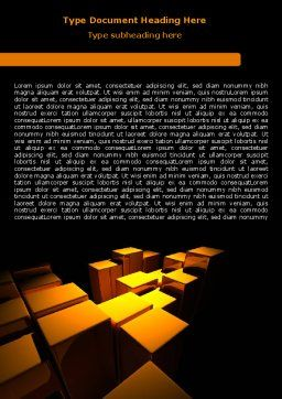Gold Boxes Word Template, Cover Page, 07408, Business — PoweredTemplate.com