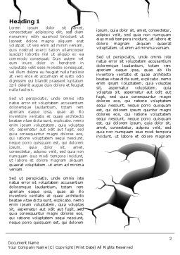 Cracked Question Word Template, First Inner Page, 07409, Consulting — PoweredTemplate.com