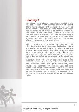 Rival Sides Word Template, Second Inner Page, 07413, Consulting — PoweredTemplate.com