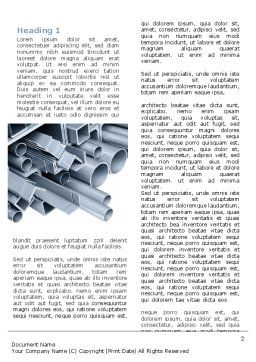Steel Pipes Word Template, First Inner Page, 07415, Utilities/Industrial — PoweredTemplate.com