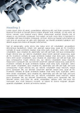 Steel Pipes Word Template, Second Inner Page, 07415, Utilities/Industrial — PoweredTemplate.com