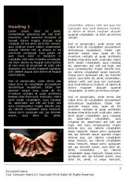 Cupped Hands Word Template, First Inner Page, 07417, Business — PoweredTemplate.com