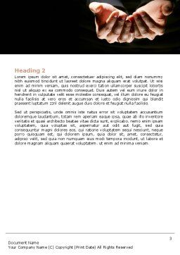 Cupped Hands Word Template, Second Inner Page, 07417, Business — PoweredTemplate.com