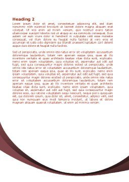 Growing Earth Fruits Word Template Second Inner Page