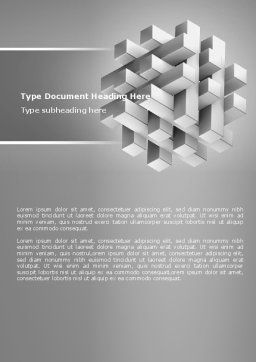 Stable Structure Word Template, Cover Page, 07419, Consulting — PoweredTemplate.com
