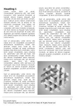 Stable Structure Word Template, First Inner Page, 07419, Consulting — PoweredTemplate.com