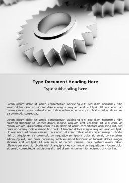 Gearwheel Word Template, Cover Page, 07421, Consulting — PoweredTemplate.com