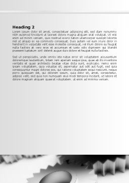 Gearwheel Word Template, Second Inner Page, 07421, Consulting — PoweredTemplate.com
