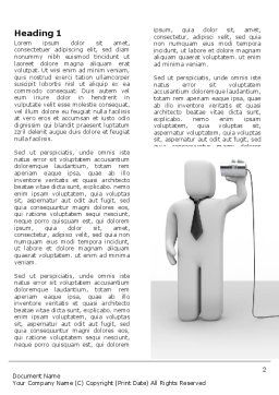 Communication Means Word Template, First Inner Page, 07425, Telecommunication — PoweredTemplate.com