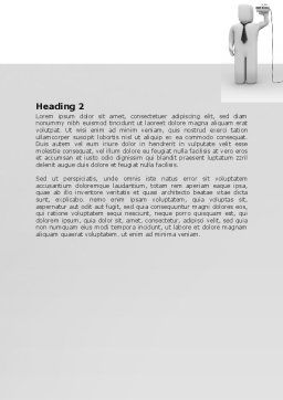 Communication Means Word Template, Second Inner Page, 07425, Telecommunication — PoweredTemplate.com