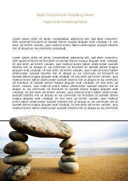 Balanced Stone Gate Word Template, Cover Page, 07427, Religious/Spiritual — PoweredTemplate.com